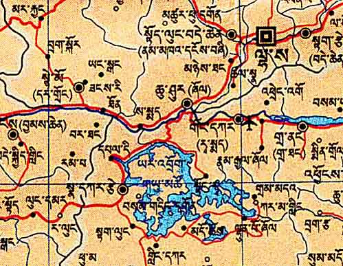 one sheet - few tibetan toponyms