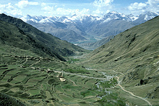 a magnificent view on the Yerpa  valley