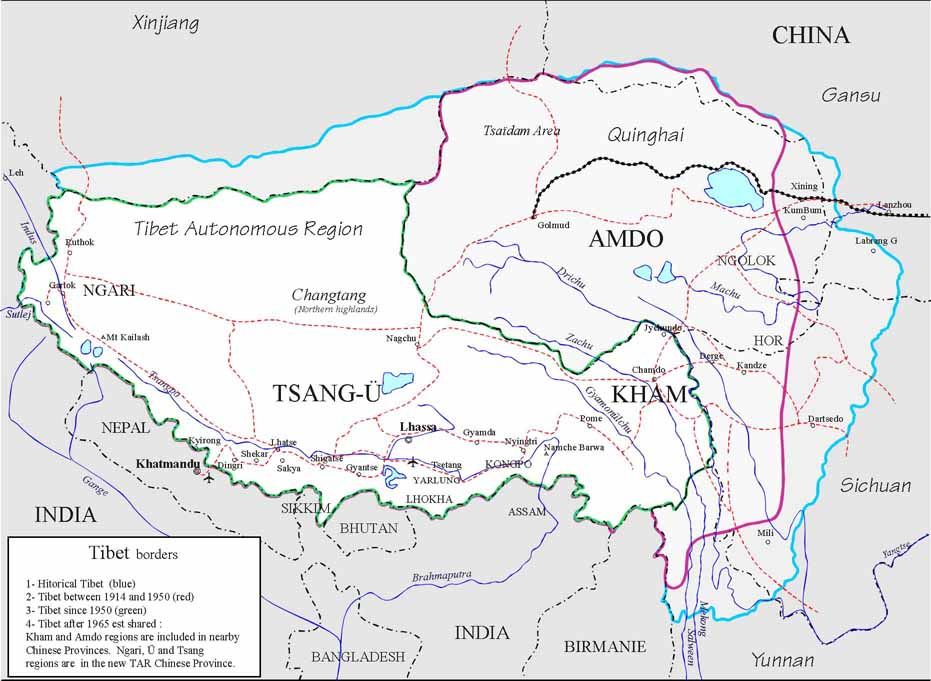 Download this general map of Tibet
